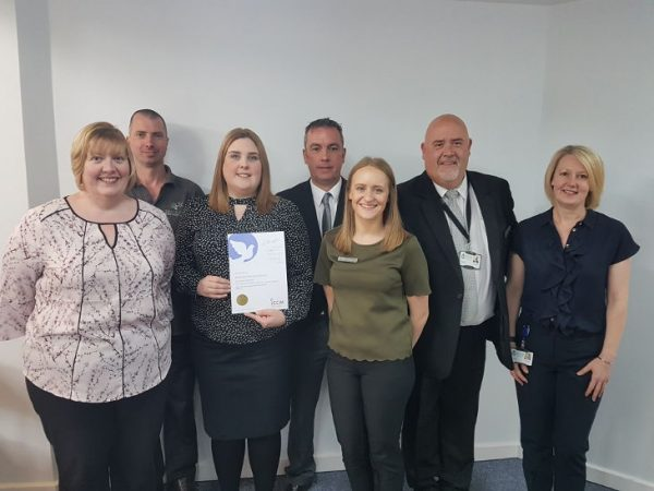 Bramcote Crematorium staff receiving award